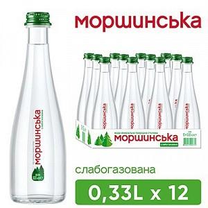 """Вода """"Моршинська"""" 0,33 л слабогазована (скло)"""