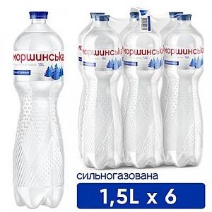 """Вода """"Моршинська"""" 1,5 л сильногазована"""